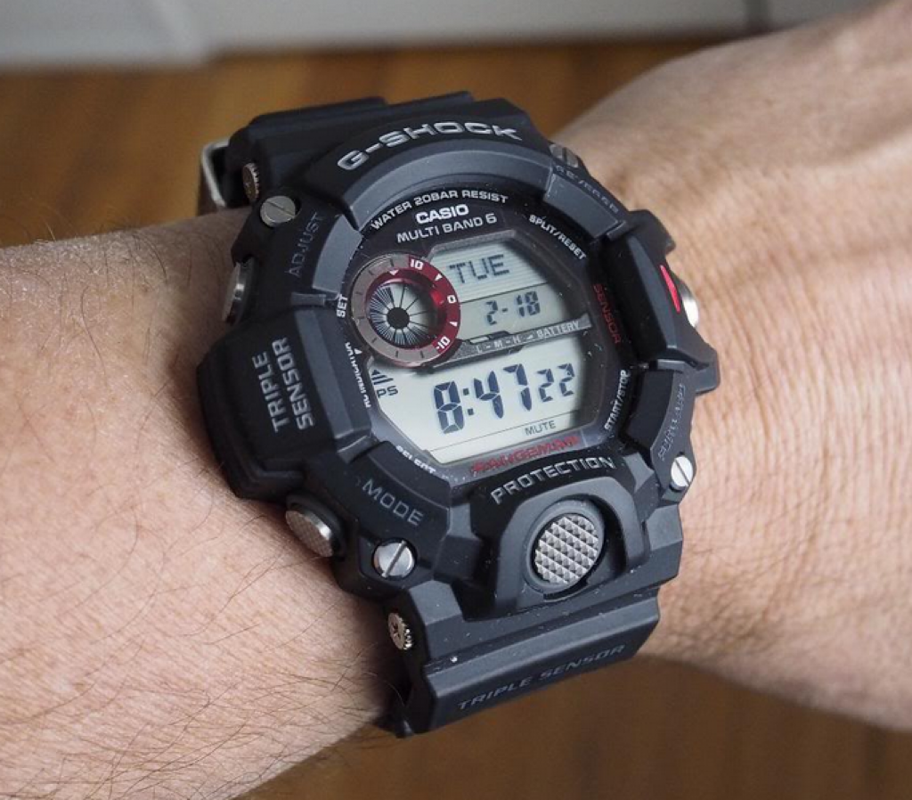 picture of casio on wrist