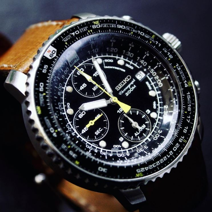 Seiko Mens SNA411 Flight Alarm Chronograph Watch Review