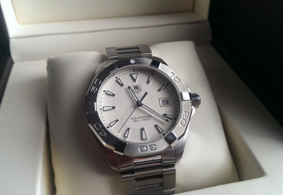 Tag Heuer Aquaracer Silver Tone WAY1111.BA0928 Watch Review-1