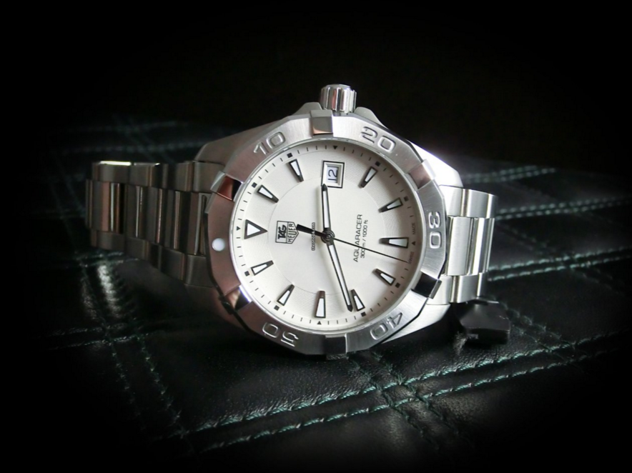 Tag heuer aquaracer silver tone way1111 ba0928 watch review 2
