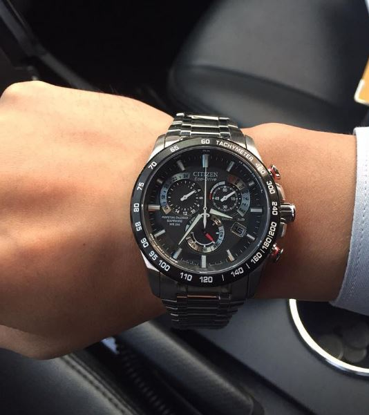 Citizen Eco-Drive AT4008-51E Perpetual Chrono Stainless Steel Watch Review-6