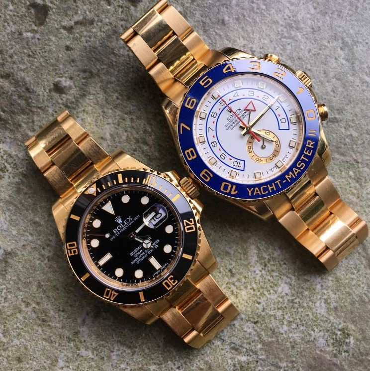 Rolex Yachtmaster 2 Gold On Wrist