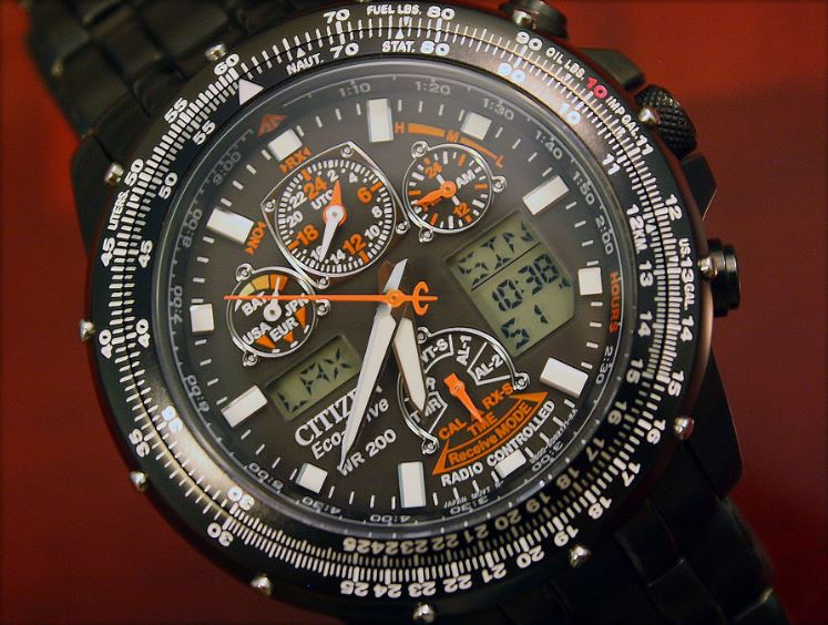 skyhawk watches chronograph citizen stainless t watch chrono atomic a steel s men