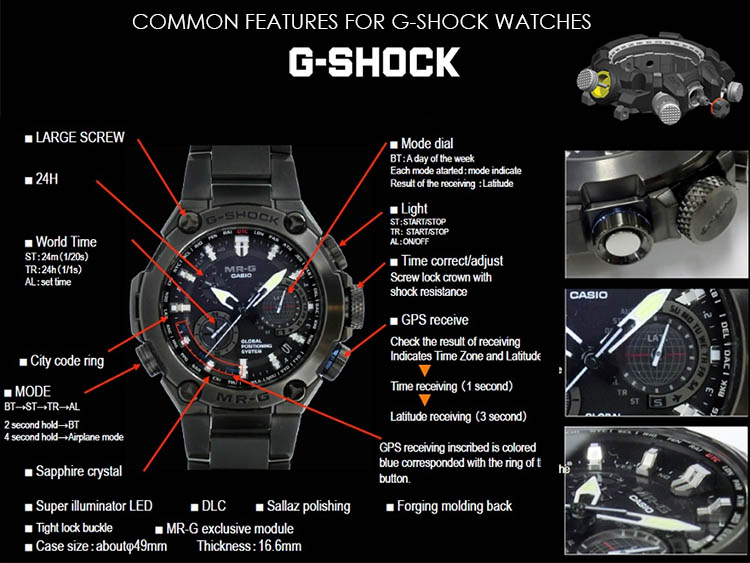 Common Features for G-Shock watches