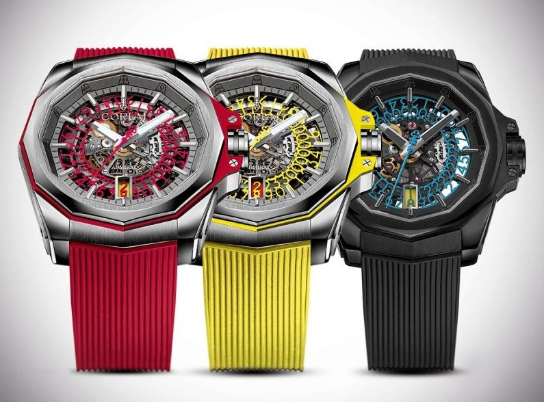 Corum Admiral Cup 45 Red Squelette 3 colors
