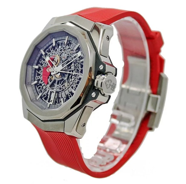 Corum Admiral Cup 45 Red Squelette side view