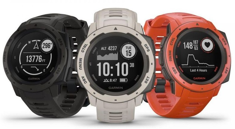 Garmin Instinct, Rugged Outdoor Watch with GPS 3 colors