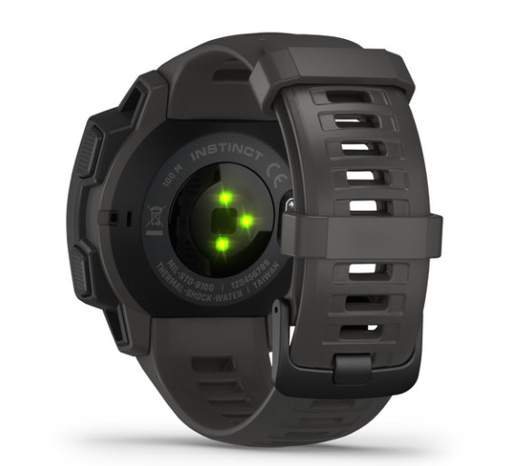Garmin Instinct, Rugged Outdoor Watch with GPS side view
