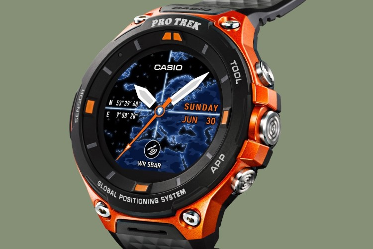 Casio Pro Trek Smart WSD-F20 side view