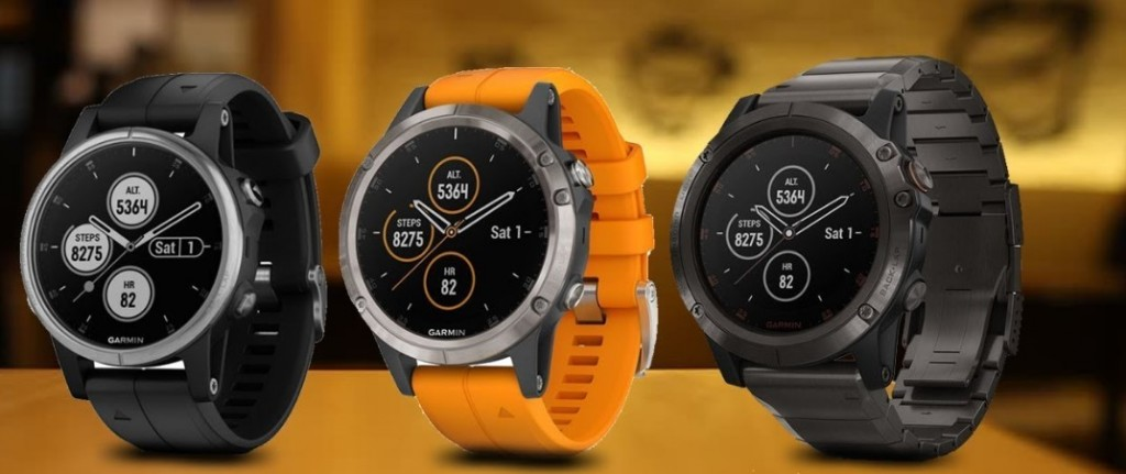 Garmin Fenix 5Plus 3 colors