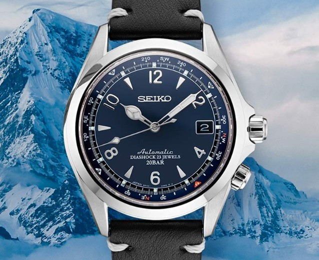 The Seiko U.S. Limited Edition Alpinist full view