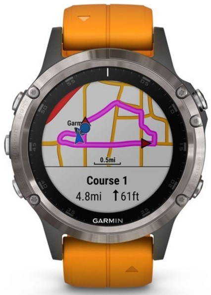 Garmin Fenix 5Plus gps view