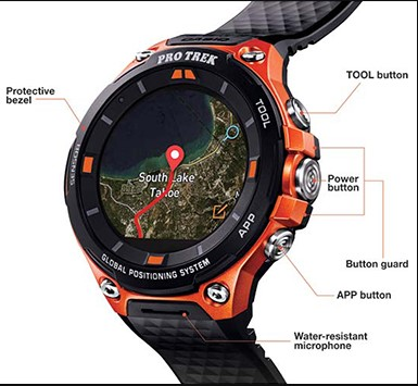 Casio Pro Trek Smart WSD-F20 info view