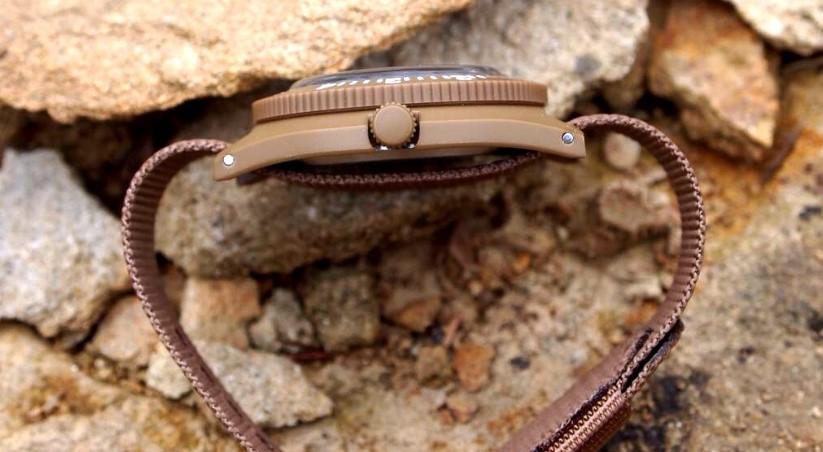 Marathon Watch WW194013 Navigator Swiss Made Military Issue Pilot's Watch side view