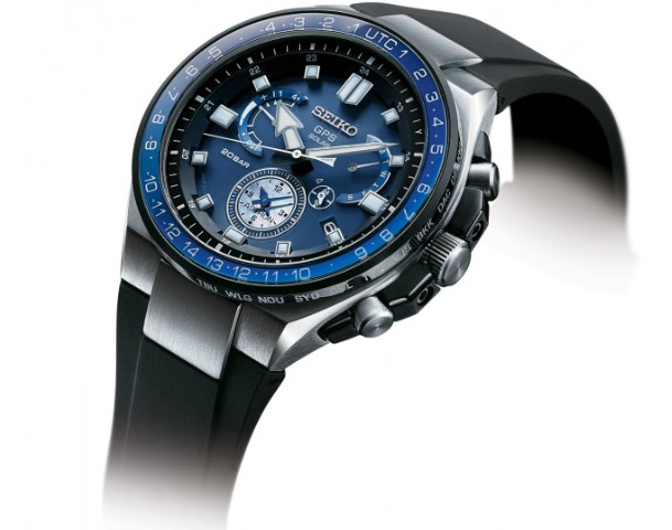 Seiko Astron GPS Solar Executive Sports Series side view