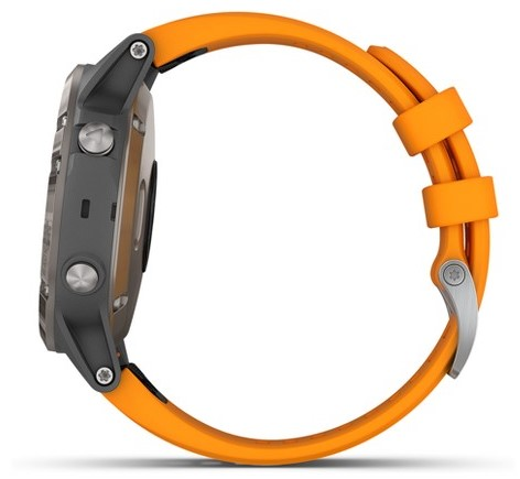 Garmin Fenix 5Plus side view