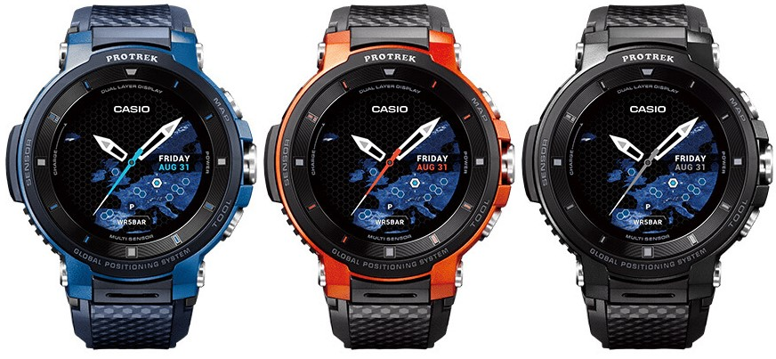 Casio Pro Trek Smart WSD-F20 3 colors