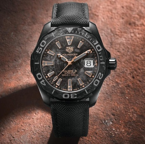 TAG HEUER AQUARACER CARBON WATCH best view