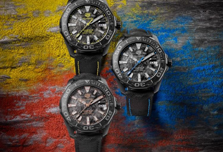 TAG Heuer Aquaracer Carbon Watches 3 colors