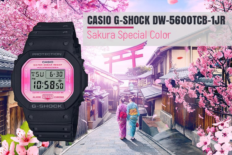 Welcome Spring With Dw 5600tcb 1dr Sakura Storm Series