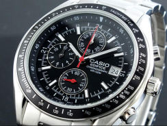 "Casio Men's EF503D-1AV ""Edifice"" Stainless Steel Watch Review"