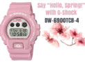 "Say ""Hello, Spring!"" with G-Shock DW-6900TCB-4"